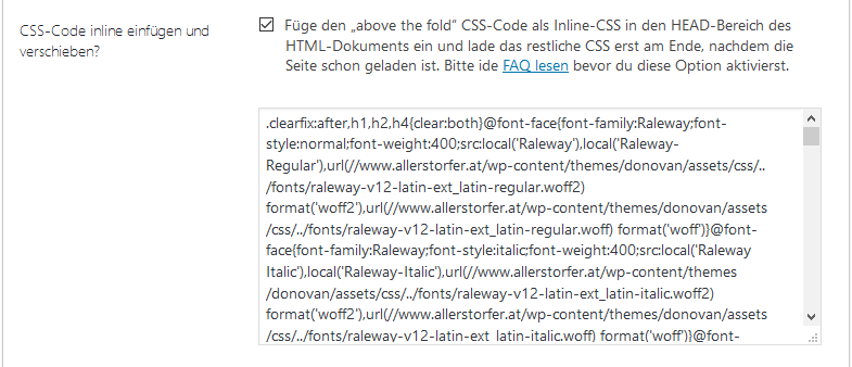 CSS-Option Inline-CSS