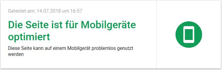 Für Mobilgeräte optimiert