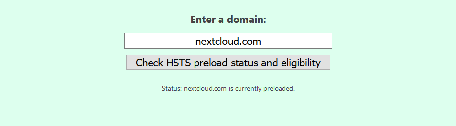 Nextcloud Preload Status