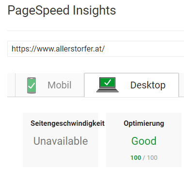 Google PageSpeed Insight Desktop 100/100