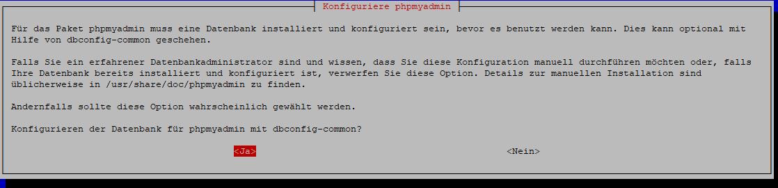 PhpMyAdmin install
